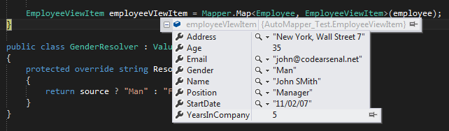 automapper how to avoid a mapping