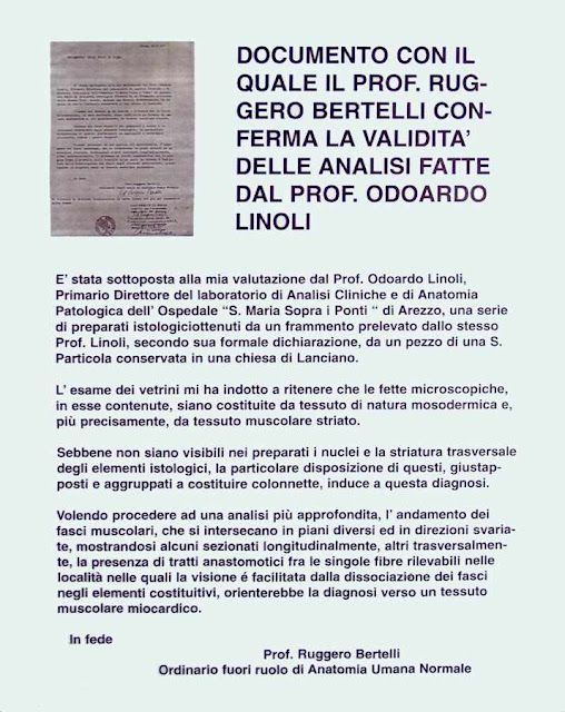 Prof. Ruggero Bertelli aprova trabalho do Dr. Linoli