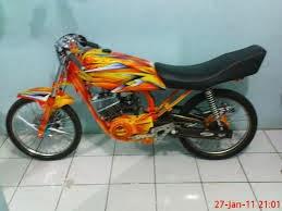 beberapa gambar hasl modifikasi motor yamaha RX king 2014