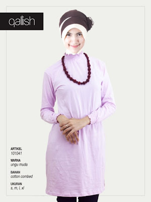 Koleksi Qallish Busana Muslim Ungu Muda