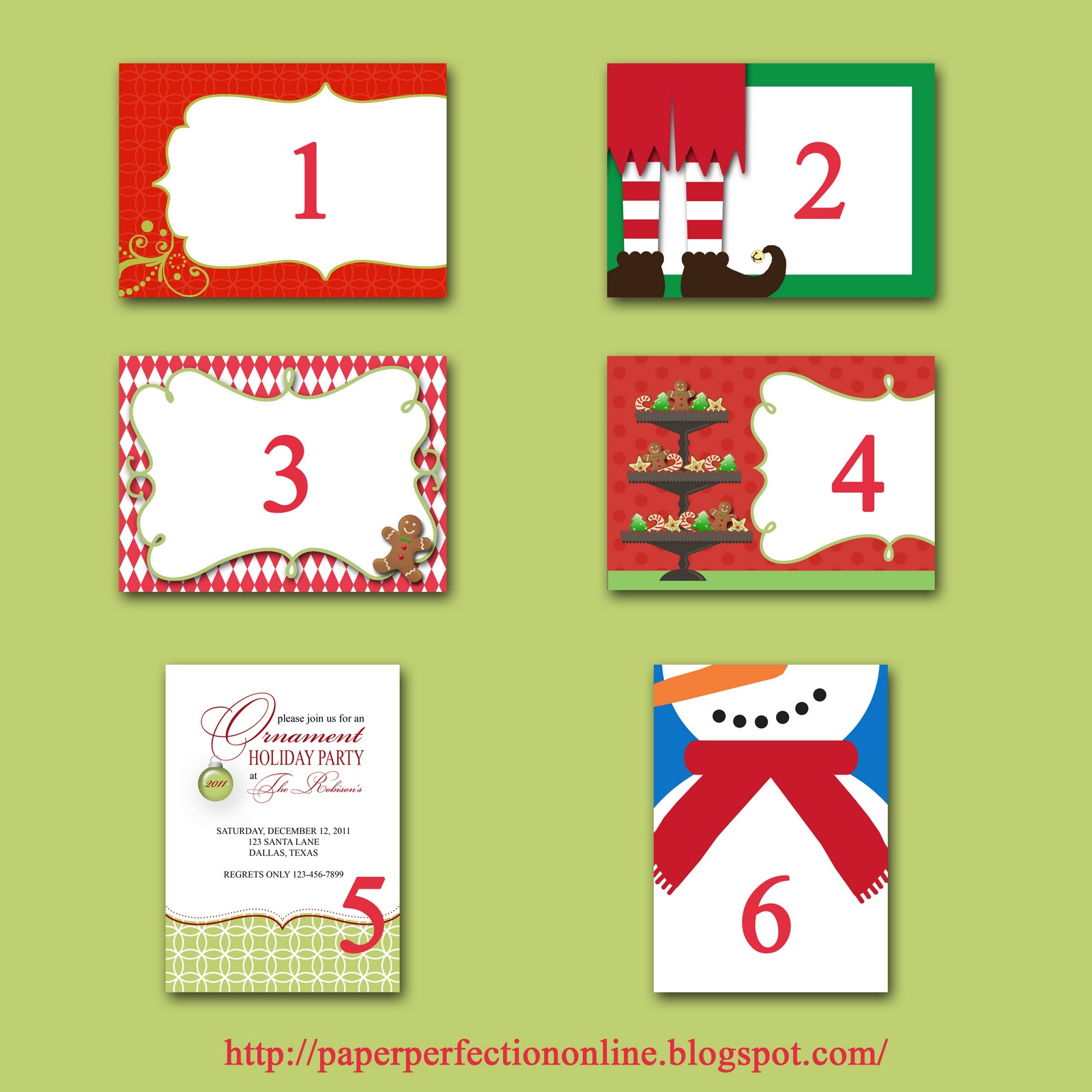 paper perfection christmas party invite