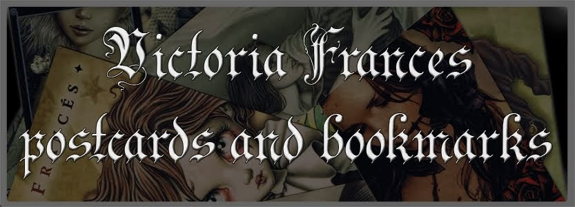 Victoria Francés postcards and bookmarks