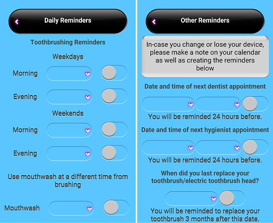 Brush DJ App reminders