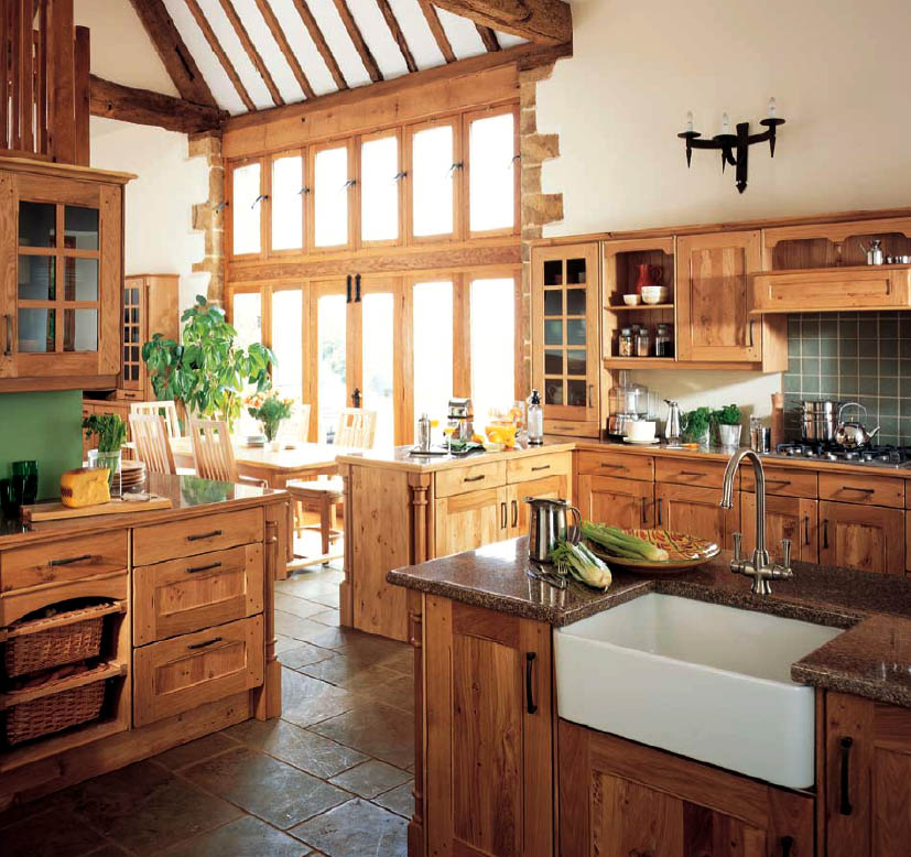 Modern furniture country style kitchens 2013 decorating ideas for Modern country kitchen designs