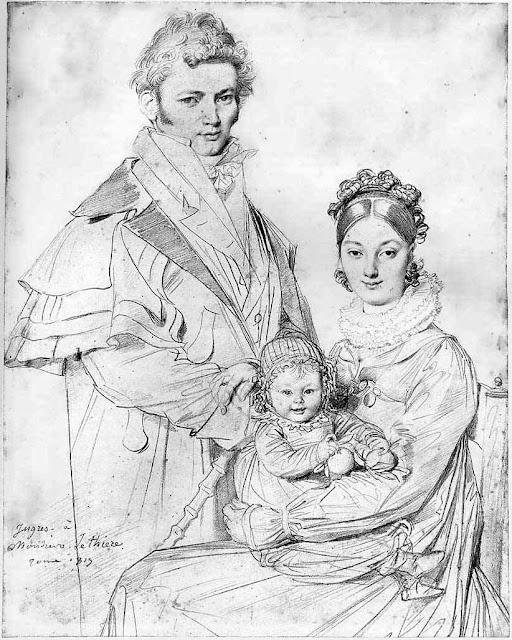 retrato de la familia lethier por ingres