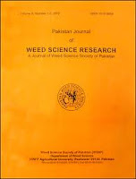 Pakistan Journal of Weed Sciences Research