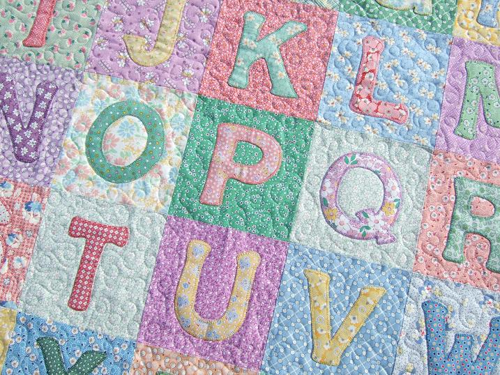 Quilt Patterns With Letters : Tamarack Shack: Alphabet Baby Quilt