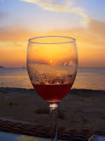 Picture of sangria in wine glass