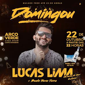 Lucas Lima e Discoteca Treme Terra neste domingo (22) no Arco Verde Casa Show em Campo Grande