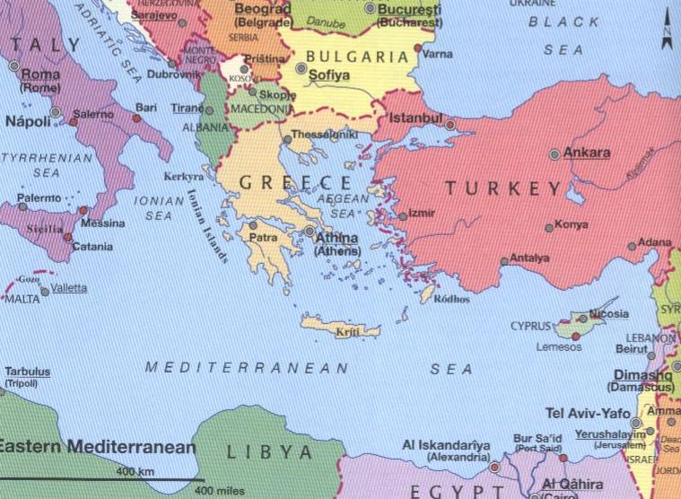 Map of italy and greece and turkey map of indiana ensemble gumiabroncs Image collections