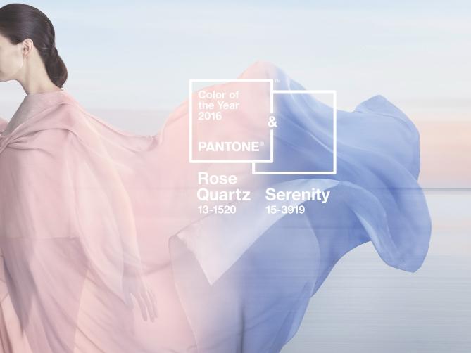 pantone colour of the year 2016 Rose Quartz Serenity