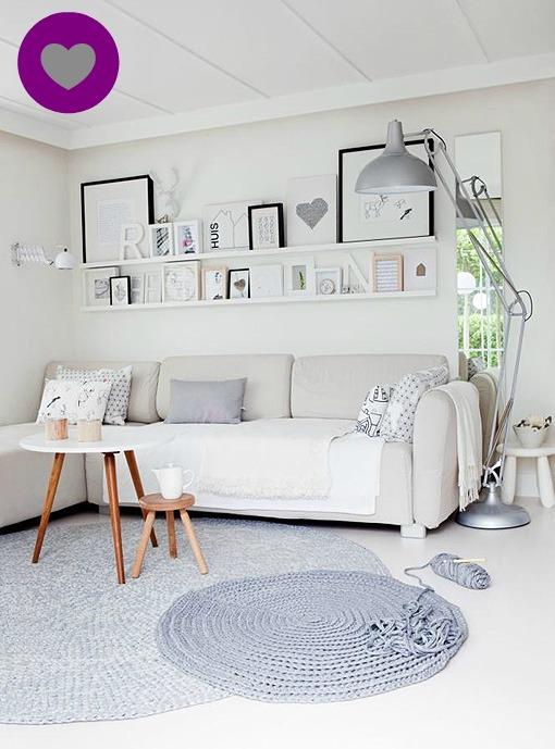 deco: un salón blanco y gris | lilaygris