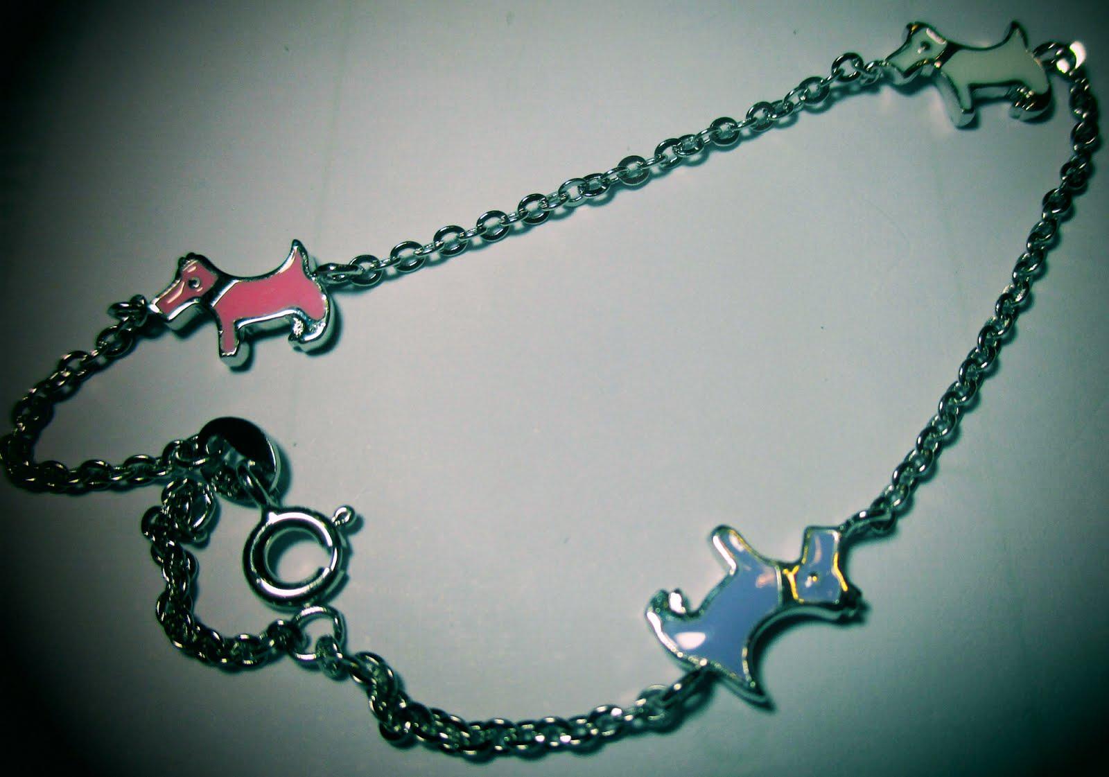 Pulsera de plata con perros