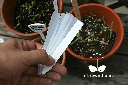 homemade plant labels from recycled plastic milk jugs