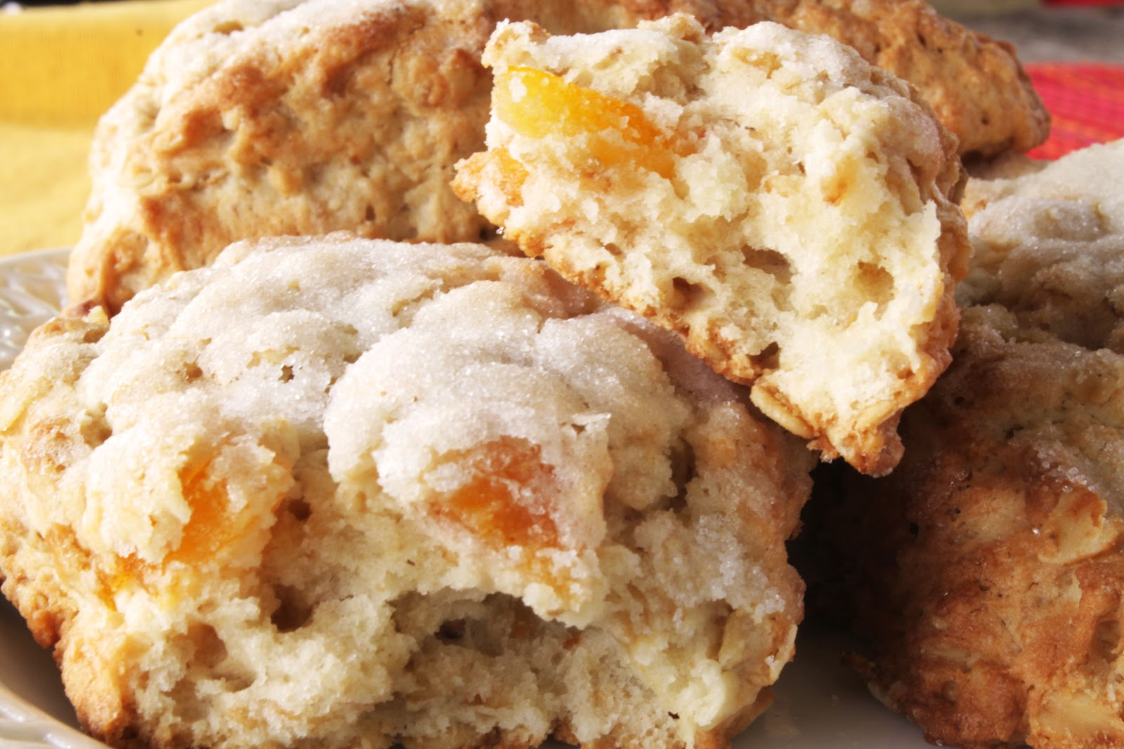 sauce white chocolate apricot scone the melted white chocolate here s ...