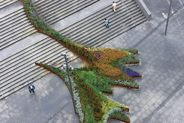 escadas externas jardim : escadas externas jardim:Ótima solução paisagística/arquitetônica para interferir no