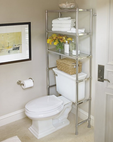 Decoracion Baños Fotos Pequenos:Bathroom Shelves Over Toilet Storage Ideas
