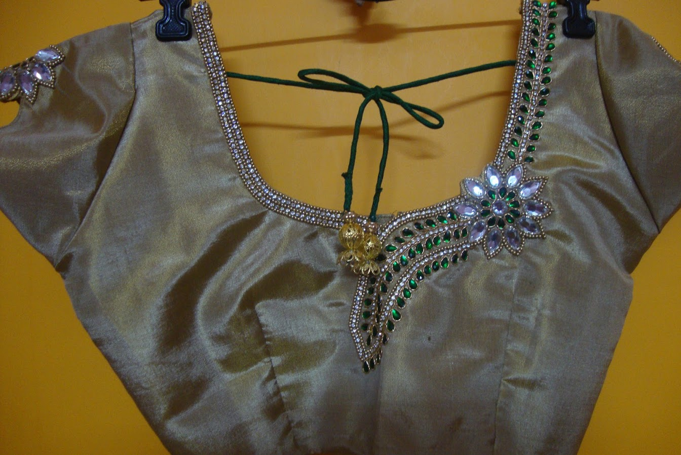 bridal work blouse back neck