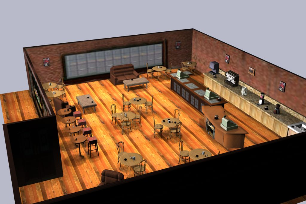 3d coffee shop joy studio design gallery best design for Coffee shop design software