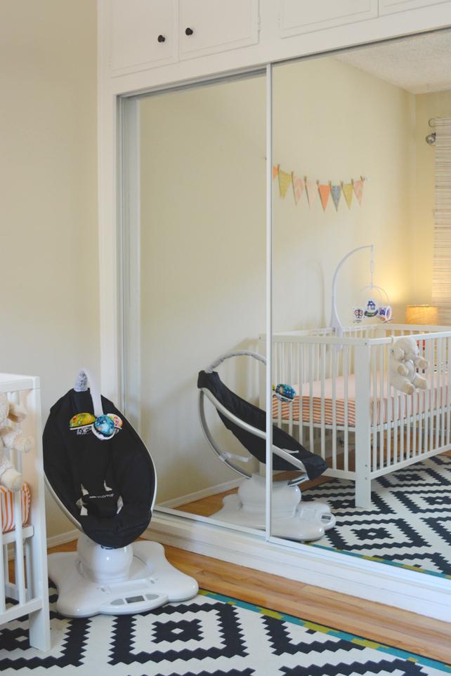 Ford's Baby Boy Nursery MamaRoo - Interior Design by Lesley Myrick, Pasadena Interior Designer