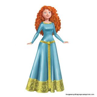 Dibujos de la princesa Merida para imprimir