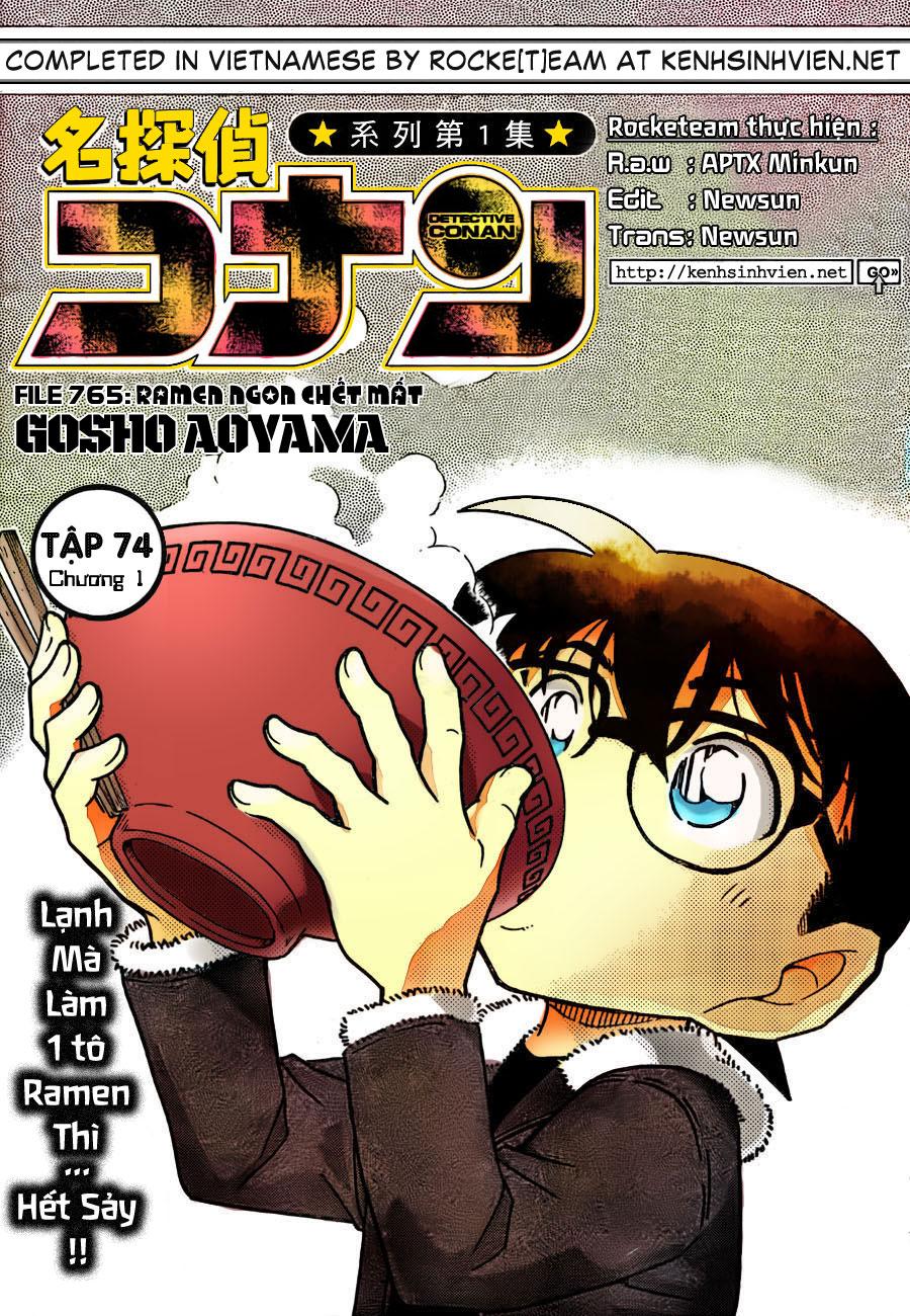 Detective Conan - Thám Tử Lừng Danh Conan chap 765 page 1 - IZTruyenTranh.com