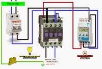 Maniobra con contactor y interruptor horario para monofasico