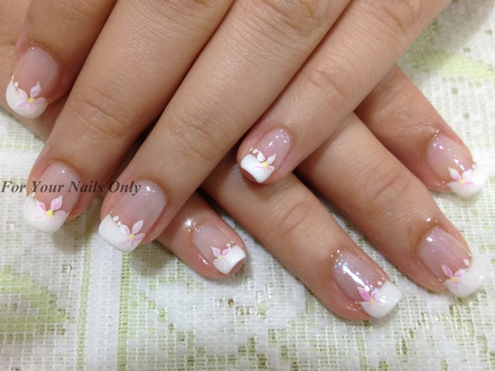 All about nail art january 2013 client came to me to do her gelish in anticipating for her wedding ceremony in church she wants something simple and elegant and no embossed since she is prinsesfo Gallery