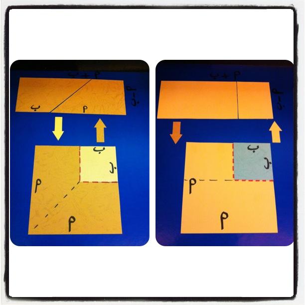 تطبيقي المعادلات التربيعية الفرق مربعين