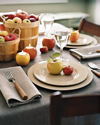 centro de mesa manzanas