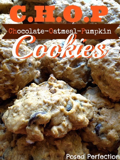 Chocolate Oatmeal Pumpkin Cookies