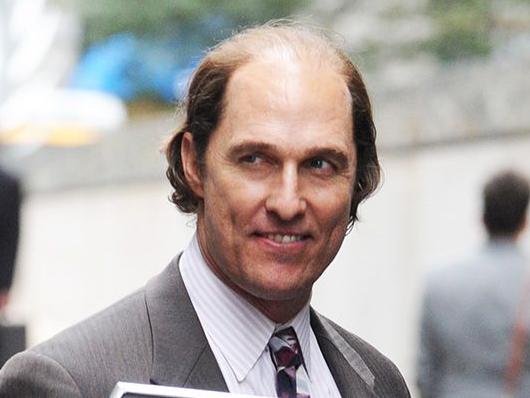 Un Matthew McConaughey irreconocible en el set de 'Gold'