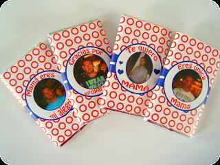 Cuatro chocolatinas personalizadas