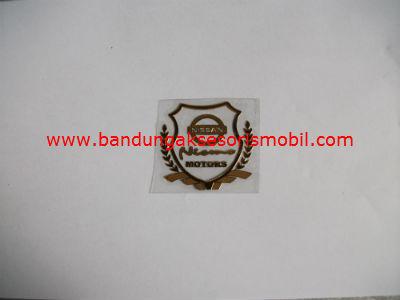 Emblem Alumunium Kotak Kecil Logo Mobil Nissan