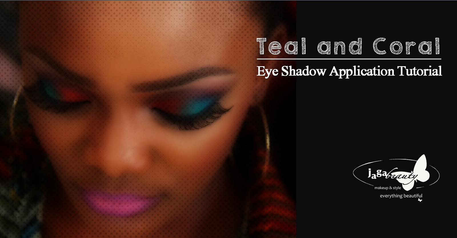 Jagabeauty makeup style teal and coral themed eye shadow teal and coral themed eye shadow application tutorial by ngozy ezeka atta baditri Gallery