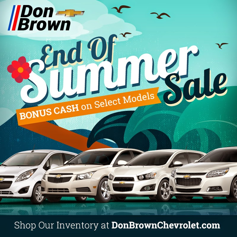 End of Summer Sale at Don Brown Chevrolet in St. Louis, MO!