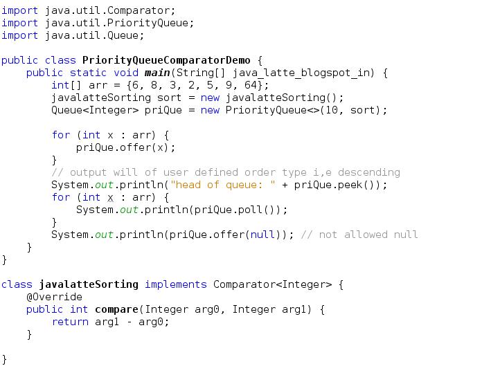 Java Latte Priorityqueue In Java