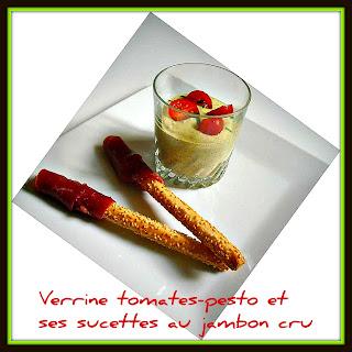 image Verrines Tomates cerises - Pesto
