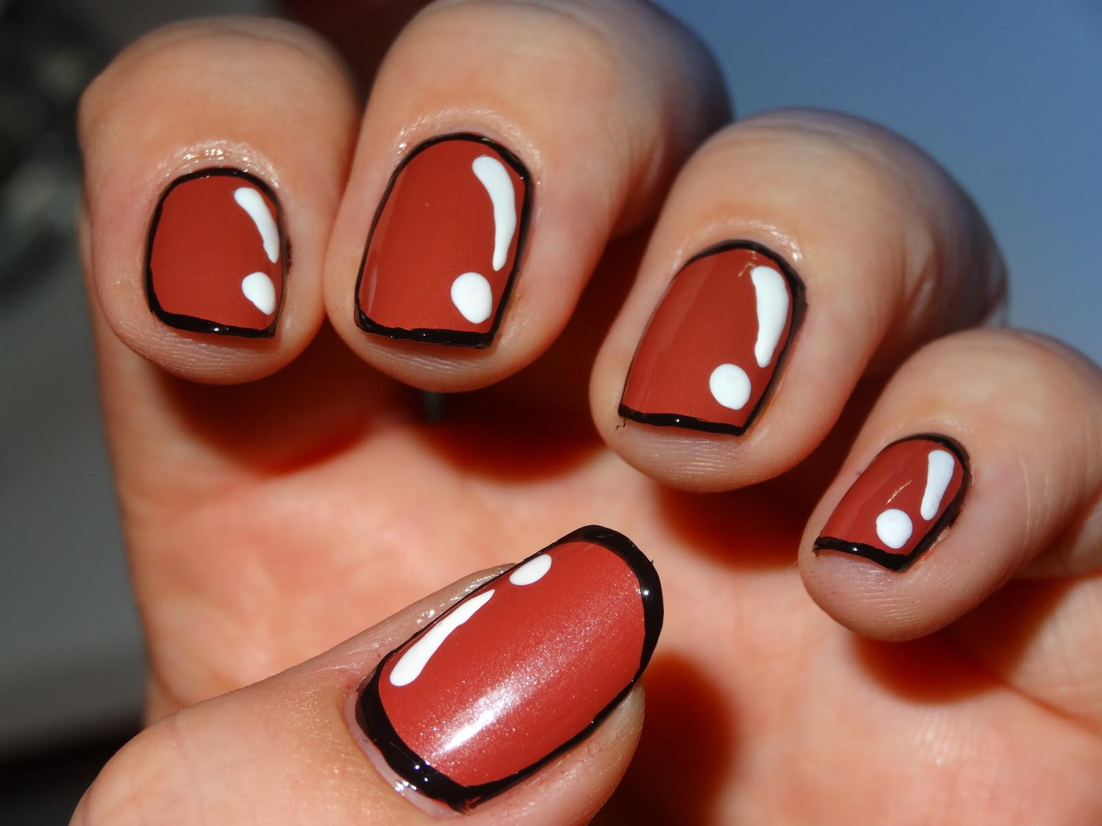 Polishlover Opi Schnapps Out Of It Comic Nail Art