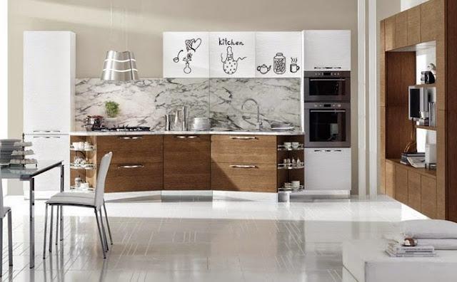 Vinilos con dibujos de elementos de cocina