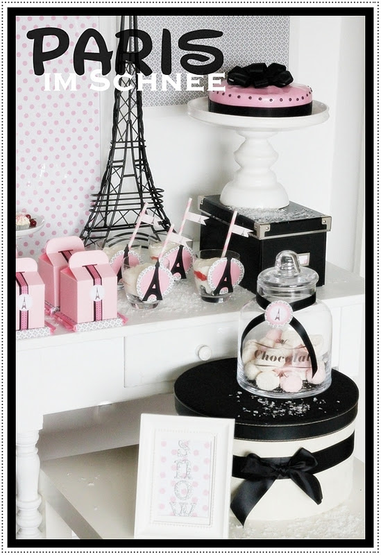 Paris In The Snow, Winter Birthday Party - Kara's Party Ideas ...