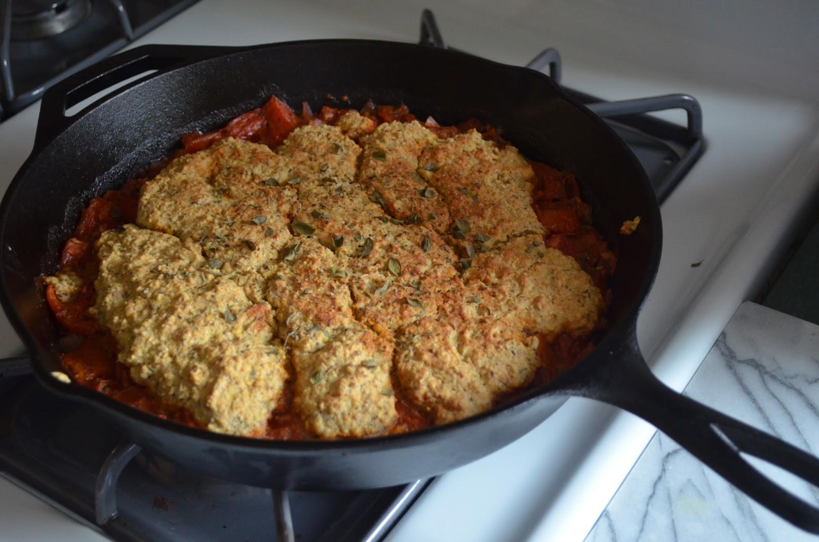 Petite Panettiere: Garden Fresh Tomato Cornmeal Cobbler
