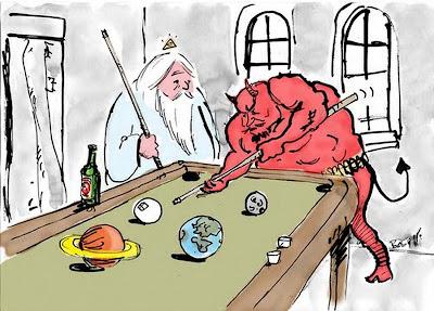 Dios y Satanás se juegan el mundo al billar - Bob Hack