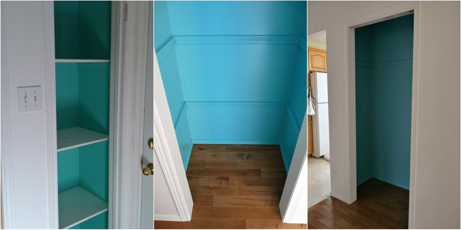 Closet Color Turquoise The colourful closet thing actually started when I began running out of white paint. I had realized that in my paint partnership with Canadian Tire I had ...
