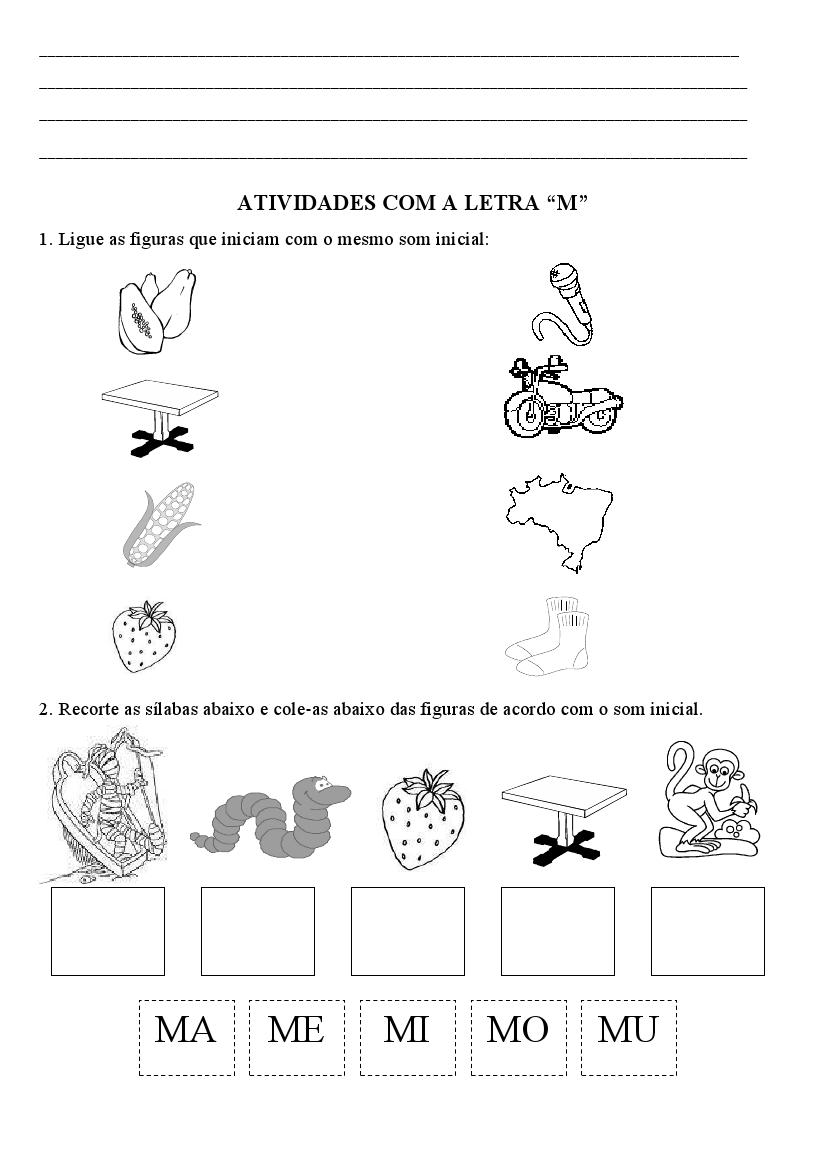Well-known ADOLETÁ DO ABC: Família silábica letra M- atividades AF53