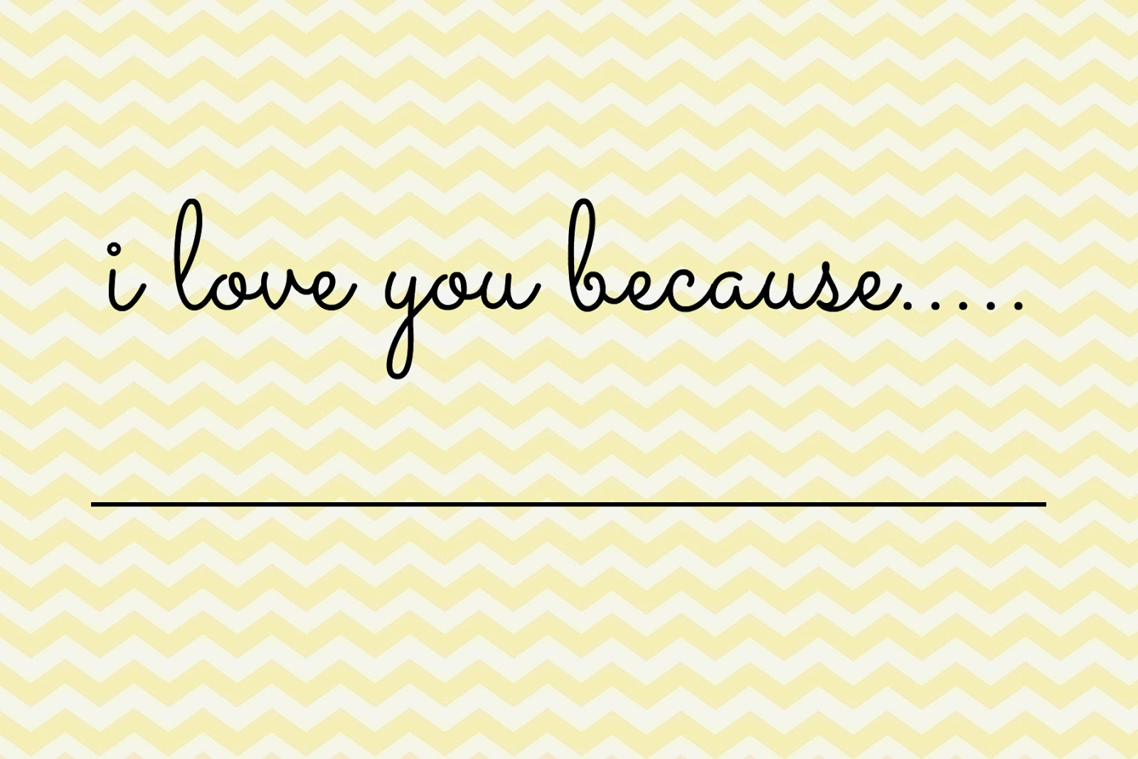 Free Valentines Printable - Chevron Yellow Printable - DIY Valentines Project