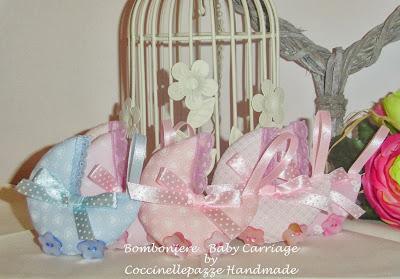 Bomboniere Baby Carriage - carrozzine