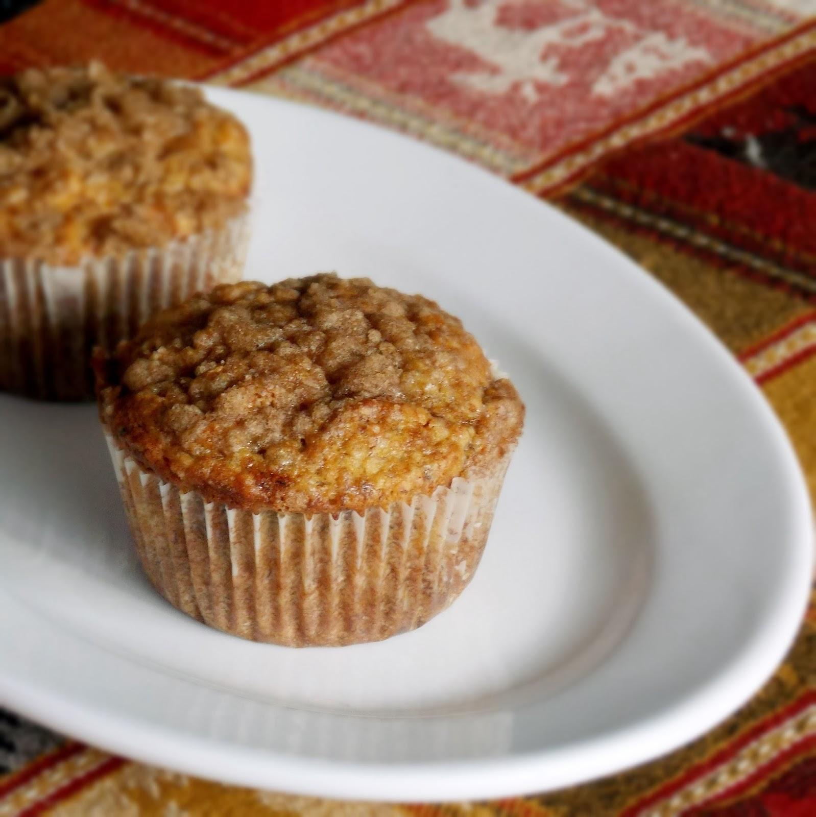 Lower Sugar Banana Crumb Muffins - Grumpy's Honey Bunch