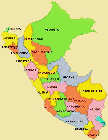 Resultado de imagen para Perú departamentos