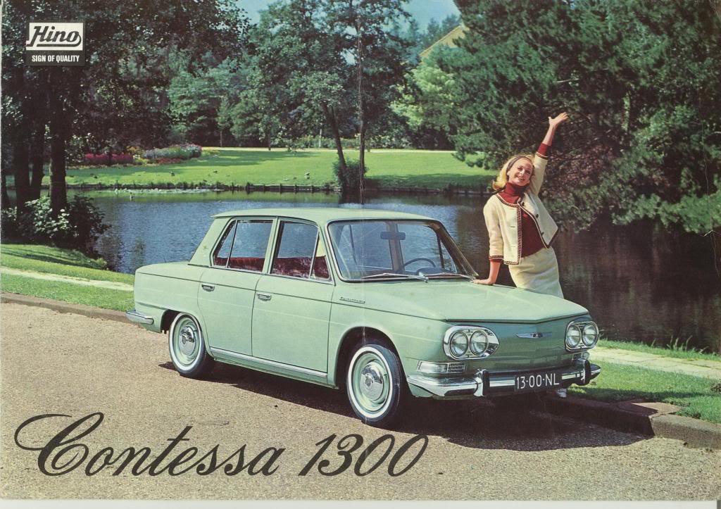 Hino Contessa 1300, sedan, stary japoński samochód, klasyczna motoryzacja, oldschool, fotki, クラシックカー
